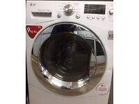 //(%)\ 9KG LG WASHER DRYER F143RD WHITE / CHROME INCLUDES SIX MONTHS GUARANTEE
