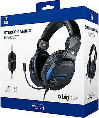 PS4 Headset Stereo Gaming v3 Kopfhörer für Playstation 4 PS Vita Lizenz Bigben