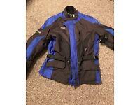 RST motorbike motorcycle jacket waterproof blue black size XXL