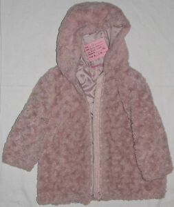 Size 4T & 6 Girls Pink Soft Fur Zipper Coat with Hood London Ontario image 1