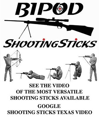 BIPOD Shooting Sticks for Rifle, Pistol, Shotgun, Bow  ***** INCLUDES Carry Case ()
