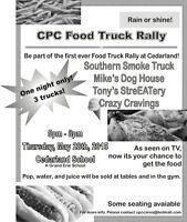 Cedarland Parent Council Food Truck Rally!!!