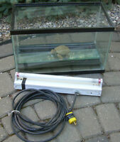 Terrarium with UVB light for reptiles