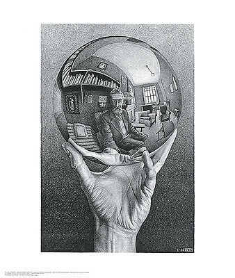 Hand with Reflecting Sphere M. C. Escher Poster Print 21.5x25.5
