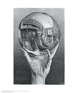 Hand with Reflecting Sphere M. C. Escher Poster Print