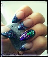 Gel nail design @ home $25 First time client!