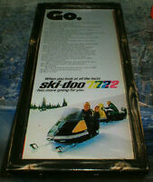 4 different Ski-doo/Sea-doo  ads - 2 from 1969 & 2 from 1972