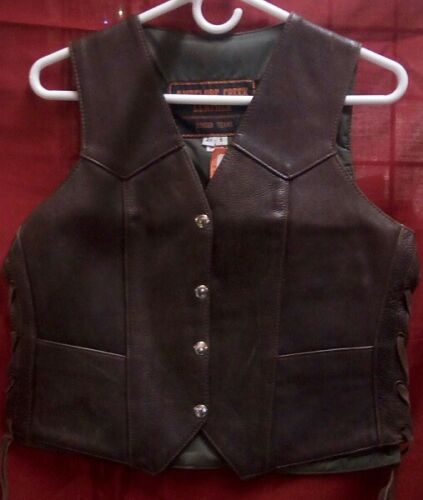 410LNPBN Ladies USA Made Leather Vest