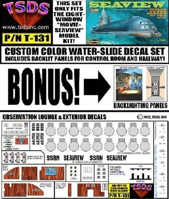 Tsds 131 X 1 128 Seaview 8 Window Submarine Movie Version Decal Set For Moebius