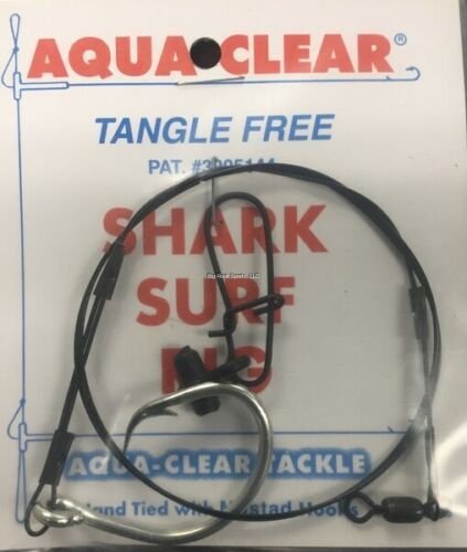 Aqua Clear Shark Surf Fish Finder Rig w/100lb Test Line #8 ...
