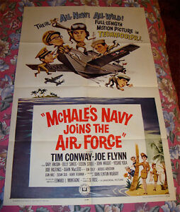 SCARCE 1965 MCHALE'S NAVY JOINS THE AIRFORCE COMEDY MOVIE POSTER