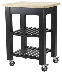 Thomas Kitchen Cart with Shelves