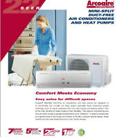 Mini-Split Air Conditioners and heat pumps 12000btu Thermopompe