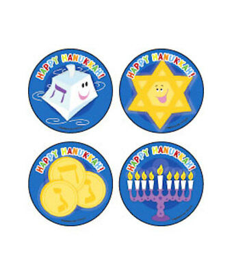20 Hanukkah Stickers Party Favor Teacher Supply  dreidel star of David (Hanukkah Supplies)