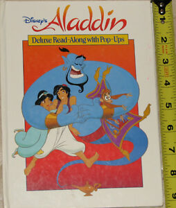 Aladdin Deluxe Read Along Pop Up Hard Cover Book