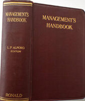 MANAGEMENT'S HANDBOOK, First Edition, 1924 !!!