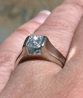 14KT White Gold .61ct. Diamond Solitaire Ring w/Appraisal