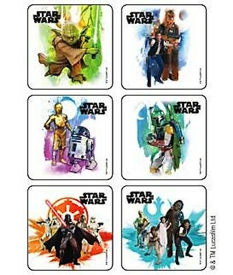 18 Star Wars Classic Stickers Party Favors Teacher Supply  Yoda Darth Vadar R2D2