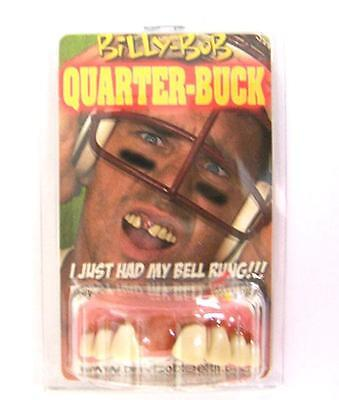 QUARTER BUCK TEETH  fake #990 joke bad false hill  billy bob costume NEW GAG