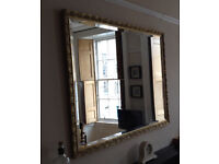 Large Mirror - vintage gilt edge mirror with bevelled glass - 1080mm x 830mm - £120 or nearest offer