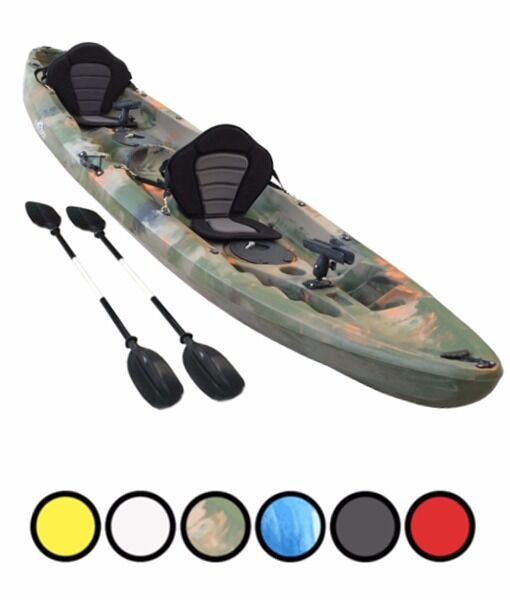 Bluefin Swift Tandem Double fishing Kayak only400.00in Eglinton, County LondonderryGumtree - Suitable for all age – 8 through to adults Suitable for 1, 2 or 3 people. Perfect for novice and expert users Suitable for sea kayaking, rivers and lakes 32kg weight for easy transport 370cm long x 92cm wide x 42cm deep Lifetime warranty Swift Sit...