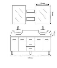 Bathroom Vanity Unit 1500mm Cabinet, Basins, Stone Top NEW Underwood Logan Area Preview