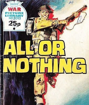 A Fleetway War Picture Library Pocket Comic Book Magazine #2013 ALL OR NOTHING