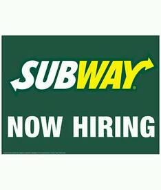 Jobs-Subway -Sandwitch artist