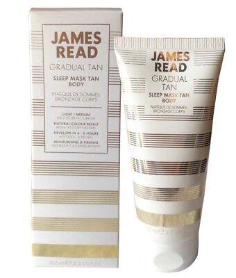 BNIB~ JAMES READ Gradual Tan ~ SLEEP MASK TAN BODY ~ LIGHT/MEDIUM~All Skin Types