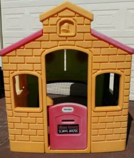 Little Tikes Town Playhouse with soccer net, basketball hoop, pet