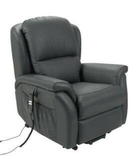 Electric Recliner Lift Chair, Premium Leather, Twin Motors