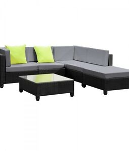 Wicker Rattan 5 Seater Outdoor Lounge Point Cook Wyndham Area Preview