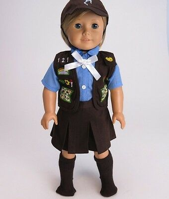 Brownie Skirt Outfit for 18'' dolls by American Fashion World Fit American Girl