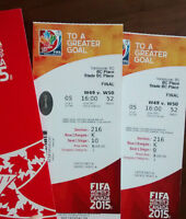 2 Tickets to FIFA Women's World Cup Final - Amazing seats - $800
