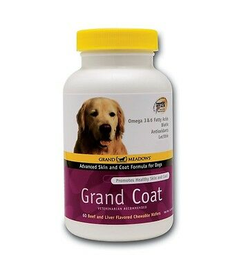 Grand Coat Dog Skin Coat Vitamin E Omega 3 Fatty Acids Beef Liver Tablets Treats