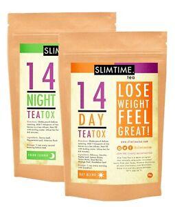 Slim Time Tea 14 Day TeaTox Combo (Skinny Tea Me Detox) Weight Loss Australian