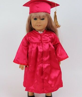 Red Graduation Cap & Gown Set Clothes for 18