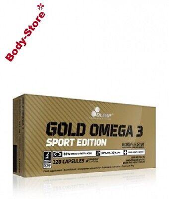 120 Kapseln Fett ((9,76€/100g) Olimp Omega 3 Gold Sport Edition 120 Kapseln Fettsäuren 151,2g)
