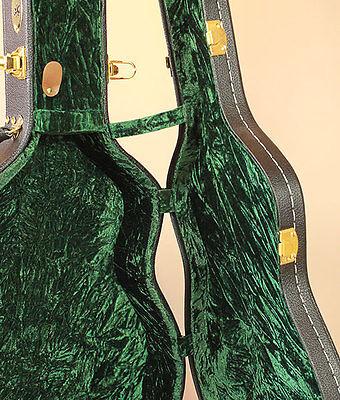 000 Size Acoustic Guitar Hard Case plush green velvet OM Martin OOO geib style