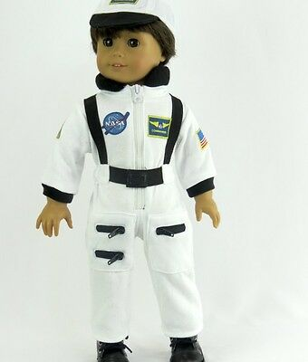 White Nasa Astronaut Costume For 18 Doll Clothes American Girl Luciana Or Boy