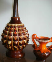 Vintage 60s retro Teak Wood Ceramic Mid Century Lamp
