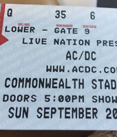 4 AC DC tickets to the sold out show in Edmonton