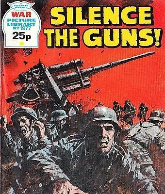 A Fleetway War Picture Library Pocket Comic Book Magazine #1977 SILENCE GUNS!