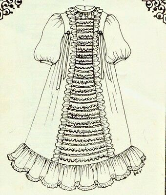 "18-19""ANTIQUE-VINTAGE-MODERN BABY DOLL CHRISTENING LACE PANEL DRESS/GOWN PATTERN"