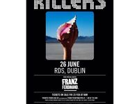 1 GOLD CIRCLE STANDING ticket for The Killers at the RDS Dublin