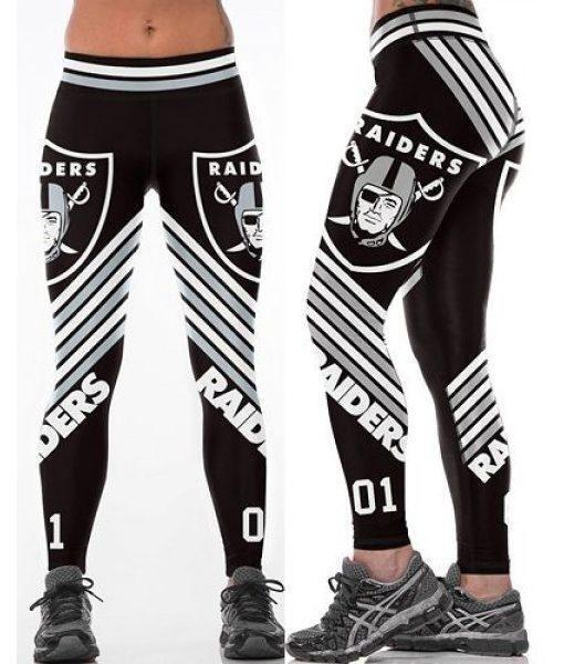Woman Legging Oakland Raiders printed high waist sports leggings S-4XL 0087