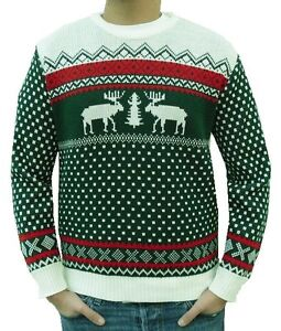 MENS LADIES WOMENS CHRISTMAS XMAS JUMPER SWEATER VINTAGE SNOWMAN REINDEER SANTA