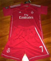 Jersey soccer + Short REAL MADRID 2015 - RONALDO - AWAY - KIDS