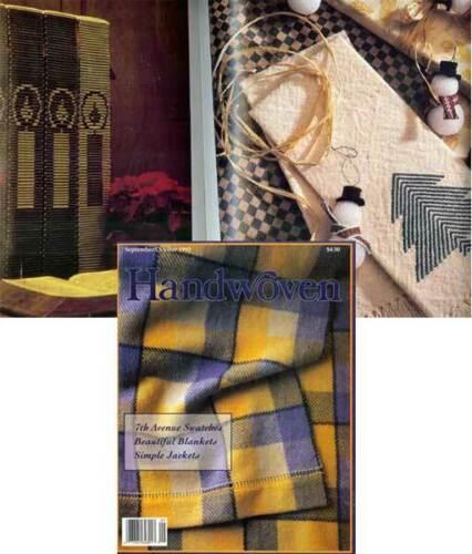 Handwoven magazine september october 1993 weave BLANKETS, JACKETS, towels +