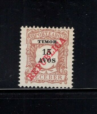 Timor 1911 15a Postage Due MH Sc J16